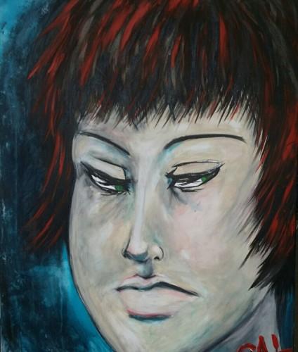 """Suspicion ~ 30x40"""" mixed media on canvas"""